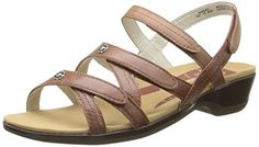 Propet Womens Lizzette Slide Sandal Chestnut 6 M US ** To view further for this item, visit the image link. (This is an affiliate link)