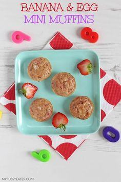 Delicious Banana & Egg Mini Muffins made with just three natural ingredients. Perfect for baby weaning and toddler finger food too! #healthymuffinrecipes #weaningrecipes #toddlerfood #fingerfood Baby Muffins, Mini Muffins, Egg Muffins, Baby Led Weaning Breakfast, Baby Breakfast, Baby Weaning, Breakfast Recipes, Breakfast Potatoes, Breakfast Muffins