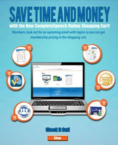 Now you can SHOP and SAVE with CompleteSpeech with just a click! ? ..... PST! If you are one of our MEMBERS remember with your log in NOW you can access to exclusive membership pricing and discounts!