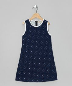 $25. Take a look at this Navy Faded Dots Shift Dress - Toddler & Girls by textures on #zulily today!