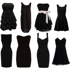 """Little Black Dress"" Love the 3rd on the top row & 4th on bottom row the best! And the first one in the top row!"