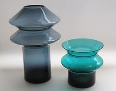 Hyrrä vases by Helena Tynell. Got the smaller one. Small One, Lakes, Finland, Glass Art, Vintage, Collection, Design, Products, Jar Art