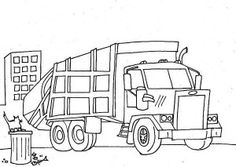 garbage_truck_coloring_pages_garbage_truck_semi_truck_coloring_page_-_netart-300x213.jpg (300×213)