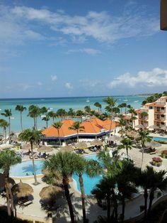View from the Fifth floor at Playa Linda Beach Resort in Aruba. Aruba Island, Aruba Resorts, Cant Wait, Devon, Passport, Places To See, Islands, Caribbean, Meet