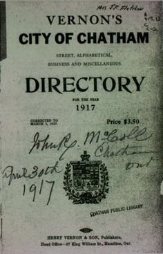 Vernon's city of Chatham street, alphabetical, business and miscellaneous directory for the year 1917