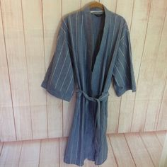 e2b5ab9f471 Christian Dior Monsieur Blue White Striped Mens Robe One Size Fits All   fashion  clothing