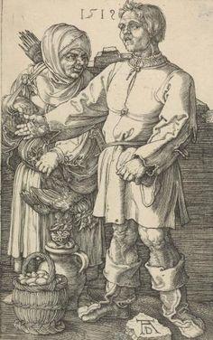 Крестьяне на рынке - Альбрехт Дюрер 1471–1528 Германия