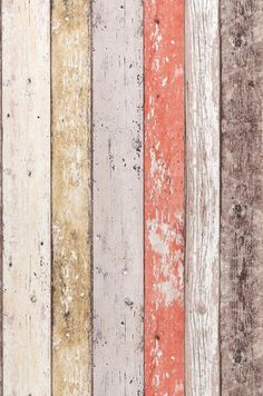 Old Planks   Wallpaper from the 70s--Can you believe this is wallpaper?? Love!