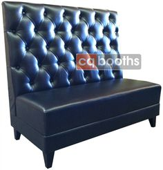 B1048 Tufted Back Booth with Wood Legs