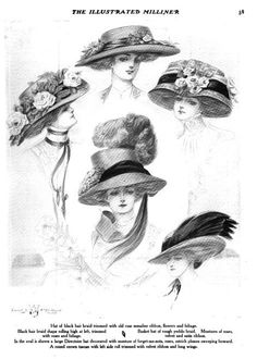 223 best WOMENS HATS 1900-1920 Lots of Feathers!! images