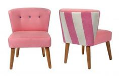 The Viola Low Back Chair - Pink from Darlings of Chelsea