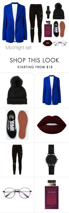 """MOONLIGHT set"" by sweetlittlebunny on Polyvore featuring moda, Sole Society, Victoria Beckham, Vans, Lime Crime i Dolce&Gabbana"