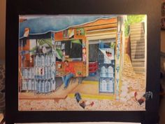"Original Art Series ""Daily Life in Dominican Republic""  #Realism"