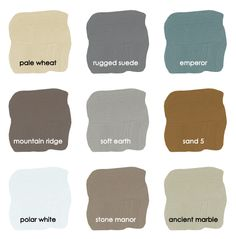 Modern Home Color Palette