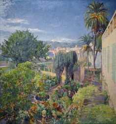 Jardín mallorquino  Autor: Pedro Blanes Viale (1878-1926) Realizado: c.1906-07  Técnica: Óleo  Soporte: Tela  Medidas: 122 x 114 cm