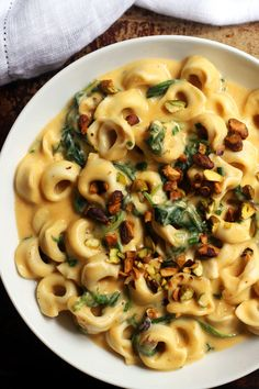 Pumpkin Tortellini with Pumpkin Alfredo Sauce | Joanne Eats Well With Others