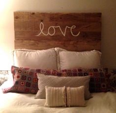 LOVE headboard by RoomForSeconds on Etsy, $225.00