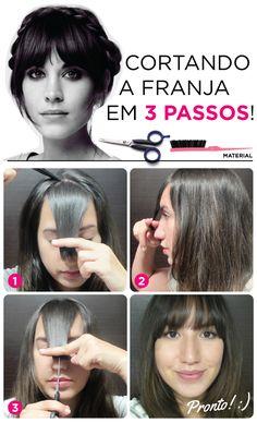 Hair tutorial short bangs for 2019 Hairstyles With Bangs, Diy Hairstyles, Hair Cutting Techniques, Kpop Hair, Pelo Pixie, Hair Essentials, Medium Hair Cuts, Super Hair, Shiny Hair