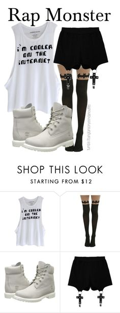 """DUET ON STAGE - RAP MONSTER"" by bangtanoutfits ❤ liked on Polyvore featuring Timberland, Chicnova Fashion, kpop, bts, BangtanBoys and rapmonster"