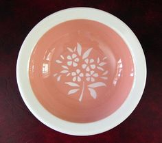 Illinois Central Railroad CORAL China Sauce Dish or Monkey Bowl found on Ruby Lane