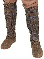 Romanesque gaiters- wrapped to protect shoes and leggings