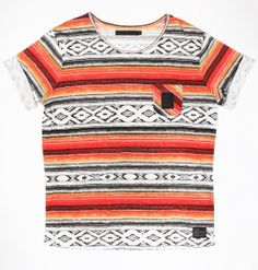 B-side VIVID STRIPE TEE ORANGE/YELLOW/RED £30.00