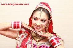 This is all about bridal chura, which gives you an ethnic Indian bridal looks. It enhances the beauty of bride & give her the perfect wed-lock in the form of bonding with her husband.  Credit goes to- www.banglehouse.com
