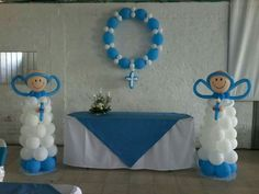 Baptism Themes, Baptism Decorations, Fiesta Decorations, Balloon Decorations, Balloon Ideas, Baby Baptism, Baptism Party, Balloon Flowers, Balloon Arch
