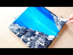 KING ART N 114 WATERFALL-CASCATA-AQUA - YouTube King Art, Videos, Waterfall, Outdoor Blanket, Canvas, Boating, Landscapes, Painting, Draw
