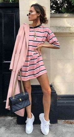 Best Spring Outfits Casual Part 13 Looks Style, Street Style Looks, Casual Looks, Trendy Fashion, Girl Fashion, Fashion Outfits, Womens Fashion, Fashion Styles, Fashion Ideas