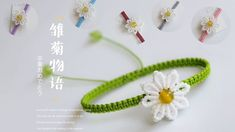 Friendship Bracelet Knots, Daisy Bracelet, Tatting, The Creator, Crochet Earrings, Projects To Try, Tutorials, Crafts, Beautiful