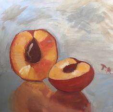 Original Food Painting by Tatiana Kucheruk Food Painting, Diy Painting, Abstract Expressionism Art, Abstract Art, Peach Paint, Original Paintings, Original Art, Fruit Art, Art Oil