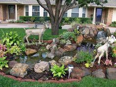 Pondless Waterfall/Oklahoma City/Oklahoma/OK Diy Trellis, Garden Trellis, Garden Planters, Diy Water Feature, Backyard Water Feature, Backyard Stream, Ponds Backyard, Waterfall Building, Diy Garden Fountains