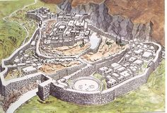 Minoan and Mycenaean Art - Reconstruction of Mycenae citadel