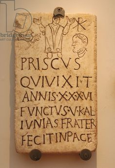 Roman funerary stele of Prisco. Inscription: Christian phrase appears in pace Framed Print Framed, Poster, Canvas Prints, Puzzles, Photo Gifts and Wall Art Early Christian, Christian Art, Ancient Rome, Ancient History, Fine Art Prints, Framed Prints, Canvas Prints, Art Romain, Before Us
