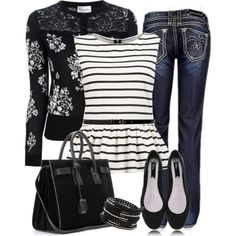 """""""Floral and Stripes"""" by jaycee0220 on Polyvore"""