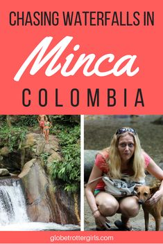 Chasing Waterfalls in Minca, Colombia. Minca is a small mountain village close to Santa Marta with waterfall hikes, good vegetarian food, local coffee farms, and a giant hammock with mountain views. Click through to read more about Minca, Colombia and find out why you should visit. | Globetrotter Girls #minca #colombia #mountains #waterfalls #adventure