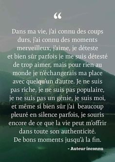 Positive Life, Positive Attitude, Motivational Phrases, Inspirational Quotes, Together Quotes, Cute Words, French Quotes, Daily Inspiration Quotes, Powerful Quotes