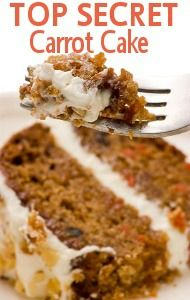 Trisha Yearwood's family secret Carrot Cake Recipe can be yours...find out what ingredients make this dessert magical! http://www.recapo.com/live-with-kelly-ripa/live-with-kelly-recipes/live-with-kelly-trisha-yearwood-family-carrot-cake-recipe/