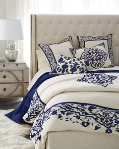 Bedroom Comforter Sets, Luxury Bedding Sets, Girl Bedding, Duvet Sets, Blue Bedroom, Bedroom Decor, Bedroom Furniture, Furniture Design, Shabby Chic Interiors