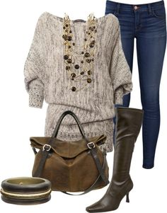 """""""Fall Sweater Time"""" by sannroberts on Polyvore"""