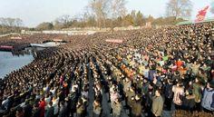 경애하는 최고령도자 김정은동지께서 올해신년사에서 제시하신 강령적과업을 철저히 관철하기 위한 청년전위들과 녀맹일군, 녀맹원들의 궐기모임 진행-《조선의 오늘》