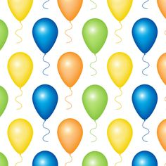 Balloons Seamless Pattern » Background Labs