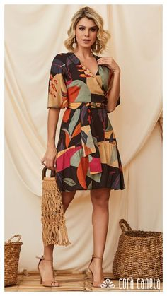 Types Of Dresses, Day Dresses, Casual Dresses, Short Dresses, Fashion Dresses, Summer Dresses, Fashion Fabric, Casual Chic, Casual Looks