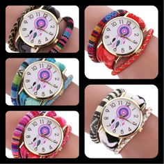 Relojes - reloj mujer hippie boho con pulsera trenz - hecho a mano por pikmode en DaWanda