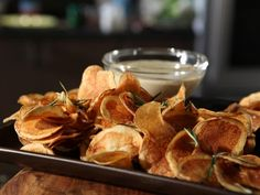 Get Michael Symon's Chips with Blue Cheese Fondue Recipe from Cooking Channel