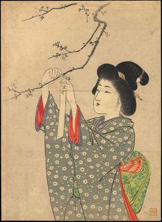 "Suzuki, Kason (1860-1919) ""Making A Wish"""