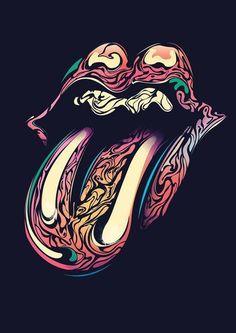 Rolling Stones groovy logo