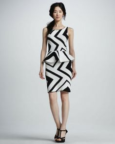 Monaco Zigzag Crochet Dress ALICE + OLIVIA