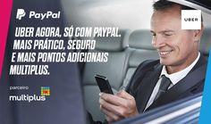 """Vá de Uber e ganhe 02 viagens de R$20 cada e ainda ganhe pontos Multiplus pagando com Paypal.  Se você nunca usou Uber, use o código promocional T6ACBWGEUE e ganhe 2 viagens de R$20 cada. Para adicionar o código basta inseri-lo na aba """"Promoções"""" ou no campo """"Cupons"""" ao se cadastrar.  http://bit.ly/2bkB052"""
